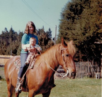 Kathy and horse and me